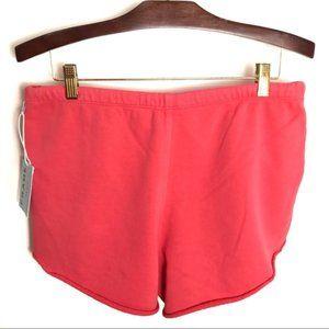 Frame Denim Shorts - NWT Frame Denim Raw Edge Terry Track Shorts, MED